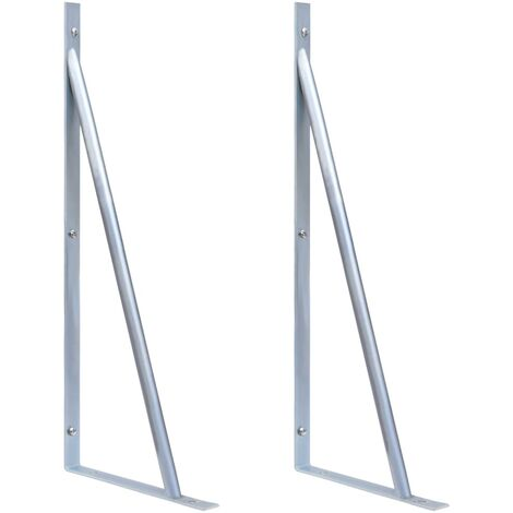YOUTHUP Support Brackets for Fence Post 2 pcs Galvanised Steel
