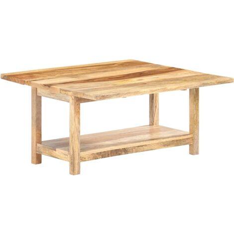 YOUTHUP Tavolino da Caffè Estensibile 90x(45-90)x45cm in Legno di Mango - Marrone