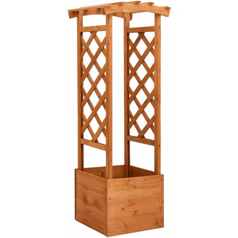 YOUTHUP Trellis Planter with Arch 49x39x130 cm Firwood