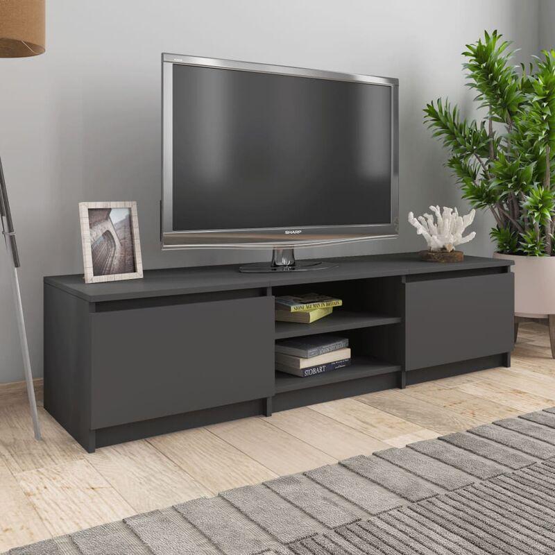 YOUTHUP TV-Schrank Grau 140×40×35,5 cm Spanplatte