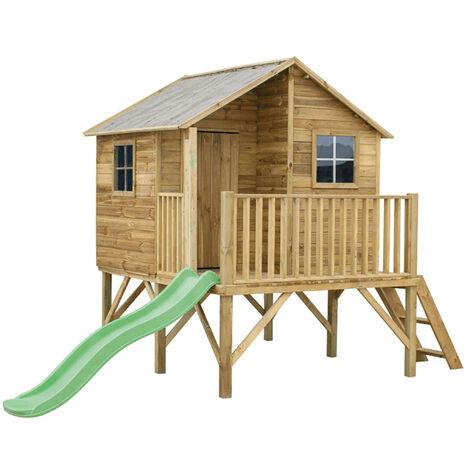 """main image of """"YOYO - casetta in legno per bambini con scivolo"""""""