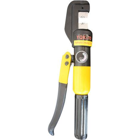 YQK-70 Pince a sertir hydraulique Pince a sertir manuelle Gamme d'outils de compression 4-70mm2 6T Pression de sortie 10mm Course,modele: Multicolore Multicolore