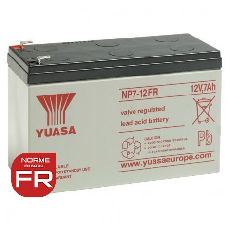 "main image of ""YUASA 12V - 7.0Ah - NP7-12 FR - AGM - S65"""
