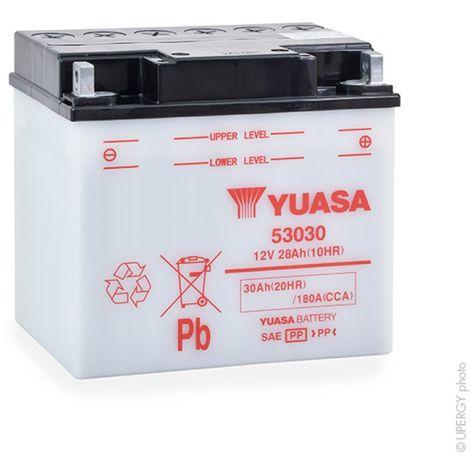Yuasa - Batería moto YUASA 53030 / Y60-N30-LA 12V 30Ah