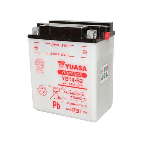 Yuasa - Batería moto YUASA YB14-B2 12V 14Ah