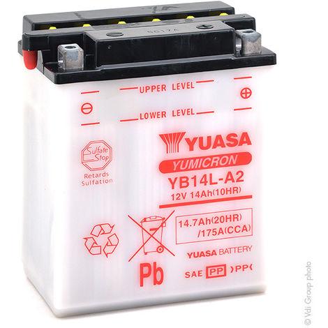 Yuasa - Batería moto YUASA YB14L-A2 12V 14Ah