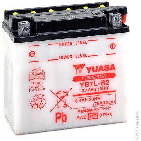 Yuasa - Batería moto YUASA YB7L-B2 12V 8Ah