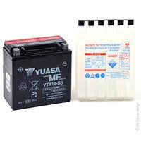 Yuasa - Batería moto YUASA YTX14-BS 12V 12Ah