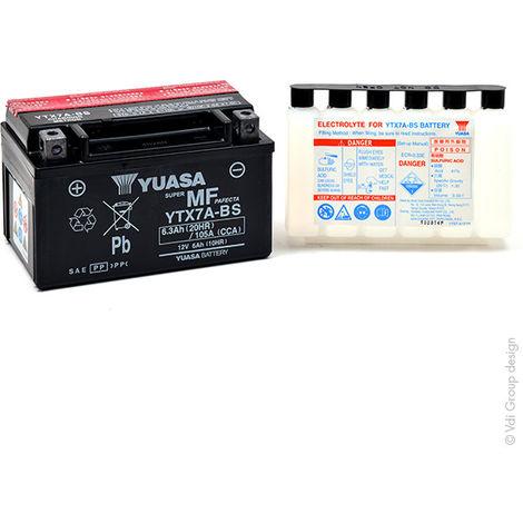 Yuasa - Batería moto YUASA YTX7A-BS 12V 6Ah