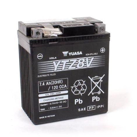 Yuasa - Batería moto YUASA YTZ8V 12V 7.4Ah