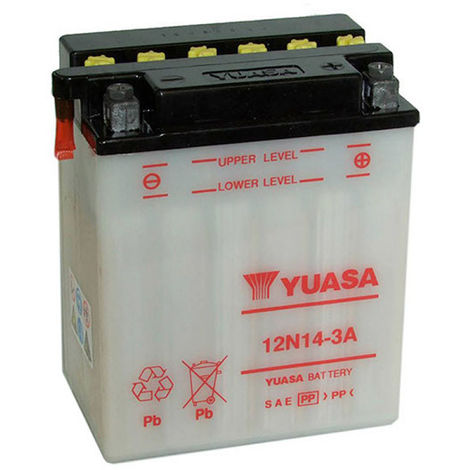 Yuasa - Batería motocultor YUASA 12N14-3A 12V 14Ah