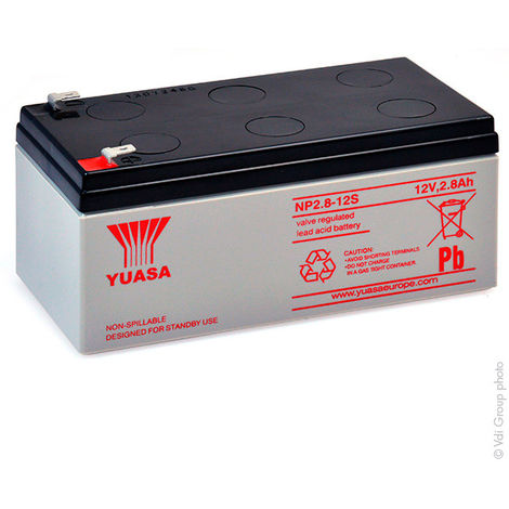 Yuasa - Batería plomo AGM YUASA NP2.8-12 12V 2.8Ah F4.8