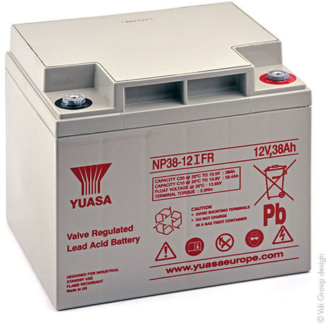 Yuasa - Batería plomo AGM YUASA NP38-12IFR 12V 38Ah M5-F