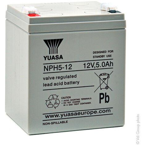"main image of ""Yuasa - Batterie onduleur (UPS) YUASA NPH5-12 12V 5Ah F6.35"""