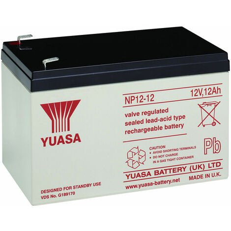 Yuasa NP Series NP12-12 Valve Regulated Lead-Acid Battery SLA 12V 12.0Ah