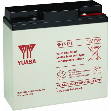 Yuasa NP Series NP17-12 Valve Regulated Lead-Acid Battery SLA 12V 17.0Ah