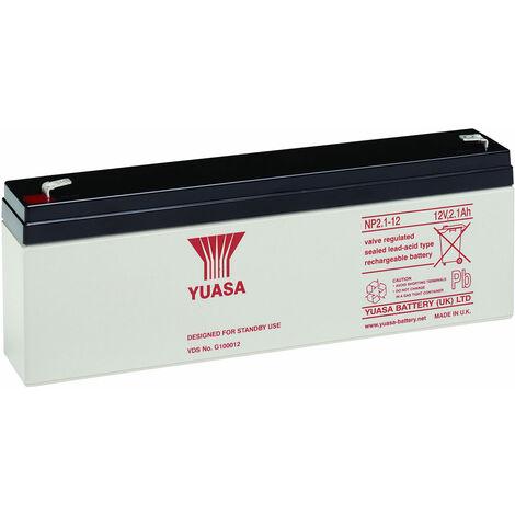 Yuasa NP Series NP2.1-12 Valve Regulated Lead-Acid Battery SLA 12V 2.1Ah