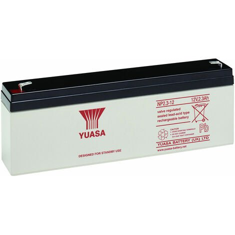 Yuasa NP Series NP2.3-12 Valve Regulated Lead-Acid Battery SLA 12V 2.3Ah