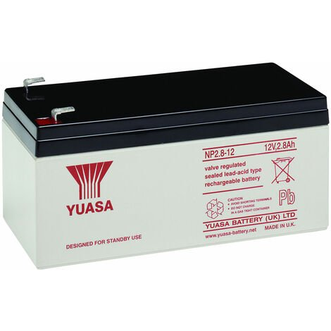 Yuasa NP Series NP2.8-12 Valve Regulated Lead-Acid Battery SLA 12V 2.8Ah