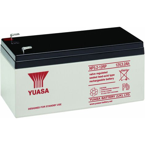Yuasa NP Series NP3.2-12 Valve Regulated Lead-Acid Battery SLA 12V 3.2Ah