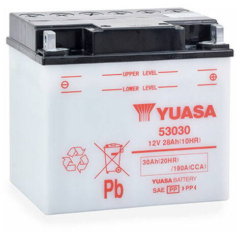 Yuasa - Yuasa - Batterie moto YUASA 53030 / Y60-N30-LA 12V 30Ah