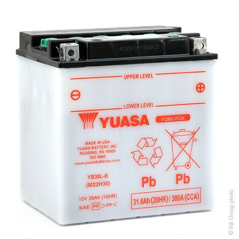 Yuasa - Yuasa - Batterie moto YUASA YB30L-B 12V 30Ah
