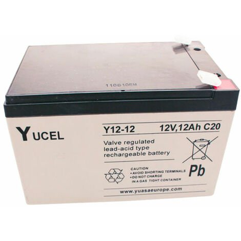 Yuasa Yucel Y12-12 Valve Regulated Lead Acid SLA Battery 12V 12.0Ah