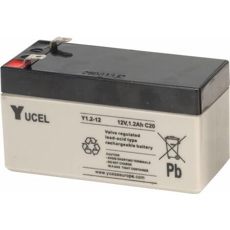 Yuasa Yucel Y1.2-12N Valve Regulated Lead Acid SLA Battery 12V 1.2Ah