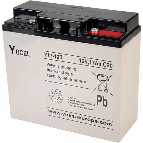Yuasa Yucel Y17-12 Valve Regulated Lead Acid SLA Battery 12V 17.0Ah