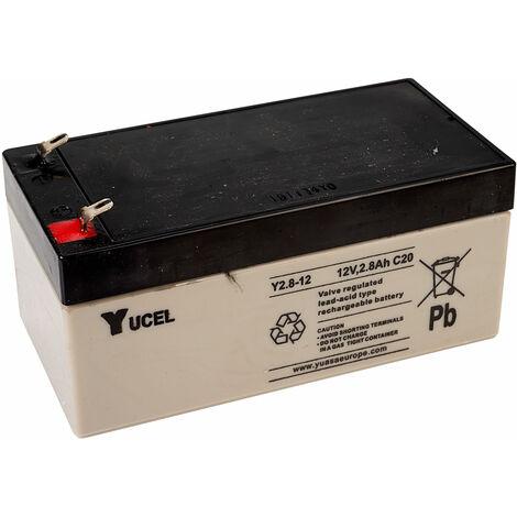 Yuasa Yucel Y2.8-12 Valve Regulated Lead Acid SLA Battery 12V 2.8Ah