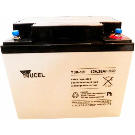 Yuasa Yucel Y38-12 Valve Regulated Lead Acid SLA Battery 12V 38.0Ah