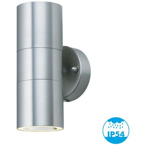 YUCATAN INOX Aplique de exterior doble haz GU10 IP54