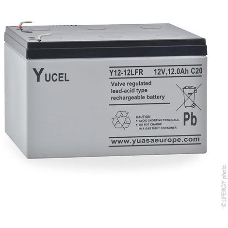Yucel - Batería plomo AGM YUCEL Y12-12 FR 12V 12Ah F6.35