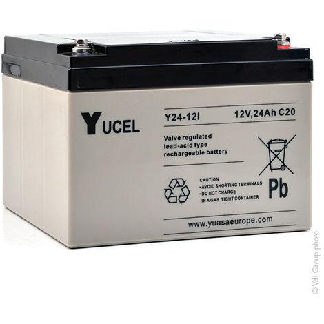 Yucel - Batería plomo AGM YUCEL Y24-12I 12V 24Ah M5-F