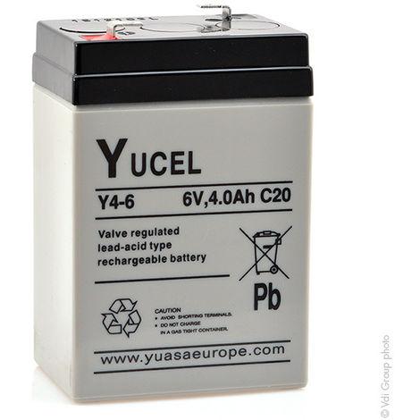 Yucel - Batería plomo AGM YUCEL Y4-6 6V 4Ah F4.8