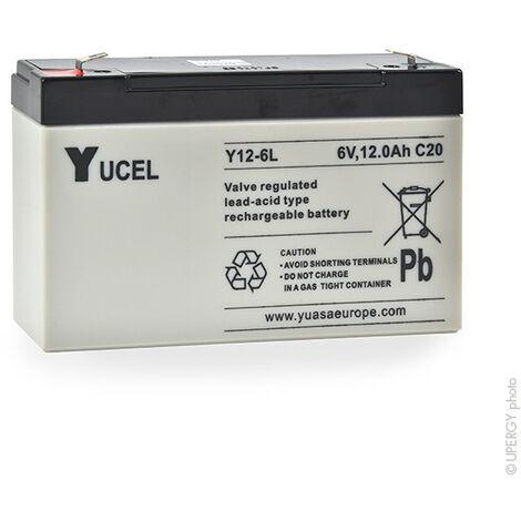 Yucel - Batterie plomb AGM YUCEL Y12-6L 6V 12Ah F6.35