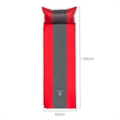 Yukatana Goodsleep 5 Sleeping Mat Air Mattress 5cm Thick Self-Inflating Red-Grey