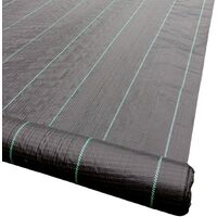 Yuzet 1m x 200m 100g Weed Control Ground Cover Garden Membrane Landscape Fabric