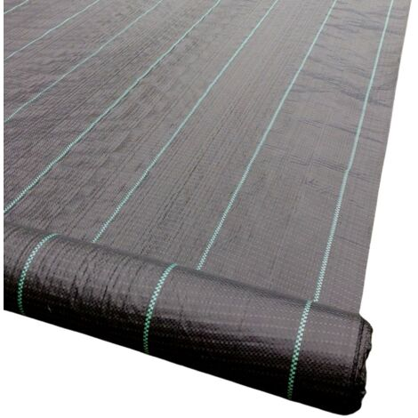 Yuzet 2m x 100m 100g Weed Control Ground Cover Membrane Fabric Heavy Duty