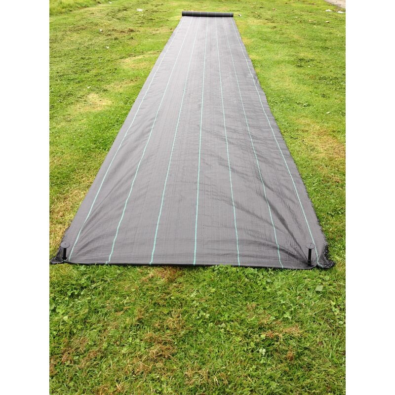 2m x 50m Yuzet 100gsm Horticultural Gridlined Ground Cover Weed Control Fabric