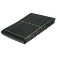Yuzet 2m x 10m 100g Weed Control Fabric Membrane Lined Ground Cover UV Stabilised Black Heavy Duty Mulch Mat Path Drive