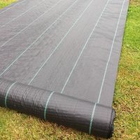 Yuzet 2m x 20m 100g Weed Control Fabric Membrane Lined Ground Cover UV Stabilised Black Heavy Duty Mulch Mat Path Drive