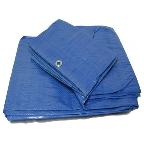 Yuzet Blue 12m x 20m Standard Waterproof Tarpaulin Ground Camping Sheet