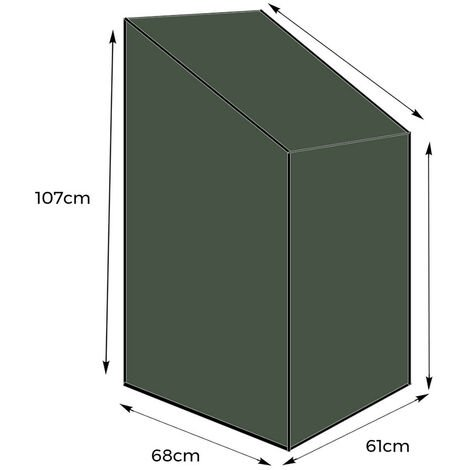 """main image of """"Yuzet Stacking Chair Cover Heavy Duty Green Strong Waterproof Outdoor Garden UK"""""""