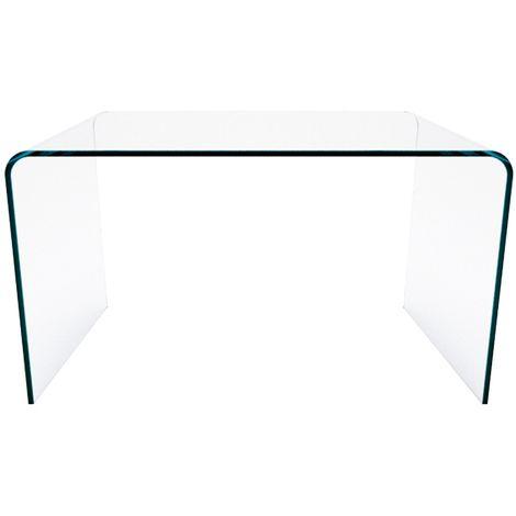 Z-02 - Consolle scrivania tavolo da pranzo salotto ufficio in vetro curvato luxury