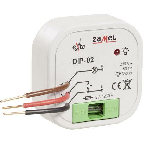 Zamel DIP-01 Unterputz Dimmer Geeignet für Leuchtmittel: Glühlampe, Halogenlampe W850331