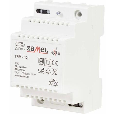Zamel Transformateur de Sonnette TRM-12 12 V/AC 1.25 A