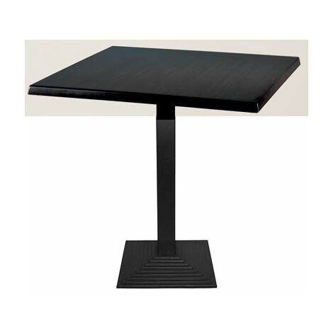 Zamon Square Dining Table With Cast Iron Square Base - Black