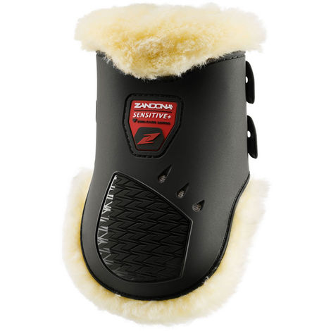 Zandonà Paranoons for horses CARBON SENSITIVE AIR covered with real hypoallergenic lamb with carbon and quick release closure Zandonà