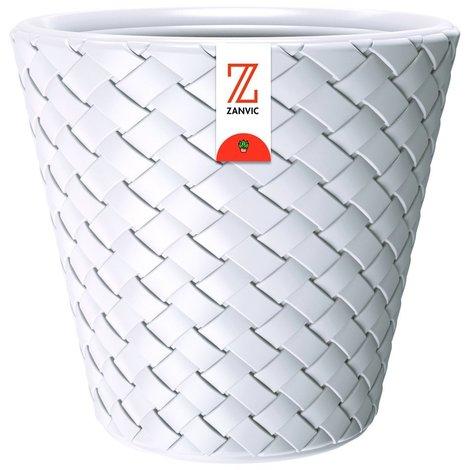 Zanvic Maceta Matuba de 20 litros en color blanco 35 x 35 x 33 cm